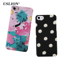 For iPhone 7 Case Cute Cartoon Bird Flamingo Lovely Daisy Flower Leaf Phone Cases Back Cover Capa For iphone7 6 6S Plus 5 5S SE
