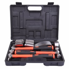 (Ship from USA) 7pcs Hand Car Auto Body Work Hammer Dolly Fender Tool Dent Repair Set Kit(China)