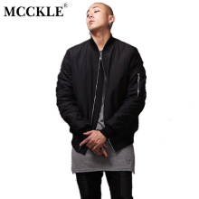 MCCKLE Fashion Hi-Street 2017 New Military Style men bomber jacket Black Mens Slim Fit Hip Hop Varsity Baseball jacket man