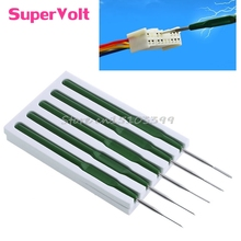 5 Car Wire Terminal Socket Pin Removal Dismount Tools Maintenance Titanium Alloy -Y121 Best Quality
