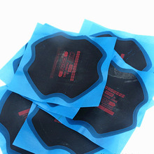 10pc Bias Ply Reinforced Tyre Repair Patch 135mm*135mm, tilt cross rubber patch(China)
