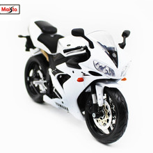 Maisto 1:12 31102 Yamaha YZF R1 White MOTORCYCLE BIKE Model FREE SHIPPING
