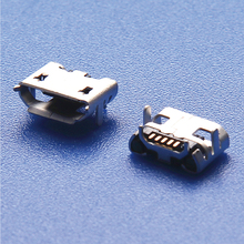 Di alta Qualità 10 pz Micro USB pin Corna 1 MM Presa Femmina Tipo Connettore Pianura Bocca(China)