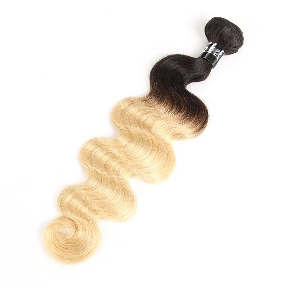 Sleek T1B613 Blonde Bundles Brazilian Hair Body Wave 100% Human Hair Extension 1 Pc Remy Hair 10 To 30 inch Free Shipping (4)
