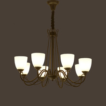 HGHomeart110/220V LED Chandelier Classic Luxury Retro Antique Iron Chandeliers Suspension E27 Lamp Livingroom Modern Dining Room