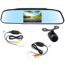"Auto Parking Kit 2.4Ghz Wireless Rear View Camera With Mirror Monitor TFT LCD 4.3"" Mirror Monitor With Wireless Backup Camera"