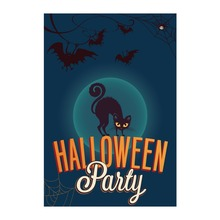 Halloween Party Black Cat Designed Garden Flags With Double Sided Printing Decorative Outdoor & Indoor Home Banner Flag