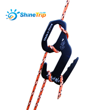 2pcs ShineTrip Outdoor Camping Tent Hook Aluminum Alloy 9 Shape Buckle Wind Rope Stopper Bundle Tight Paracord Sun Shelter(China)