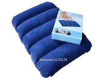 INTEX 68672  blue portable easy inflatable travel pillow air cushion neck pillow squre seat cushion infatable seat