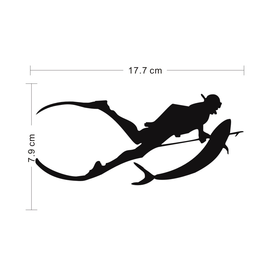 Cunymagos Free Diving SpearFishing Diving Snorkelling Vinyl Decal Sticker Car-styling Motorcycle Auto Wall Stickers 17.77 (2)