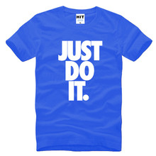 Buy JUST DO IT Letter Printed Mens Men T Shirt T-shirt Fashion 2016 New Short Sleeve O Neck Cotton Tshirt Tee Camisetas Masculina for $10.22 in AliExpress store