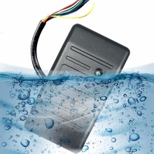 TIVDIO Access Control Proximity RFID Card Reader Wiegand 26/34 EM-ID 125KHz Reader Waterproof Access Control System F9505H