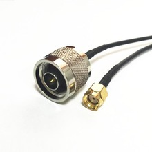 "WIFI antenna adapter RP-SMA Male Plug switch N type male pigtail cable RG174 Wholesale 20CM 8""(China)"