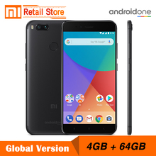 "Global Version Xiaomi Mi A1 4GB 64GB 5.5"" 1080P Snapdragon 625 12.0MP Dual Camera Smartphone Full Metal Body Android One"