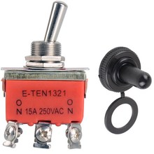 1 Piece Hot Selling New 6-pin Orange DPDT DC Moto Reverse ON/OFF/ON Toggle Switch & Switch Cap VE184 P0.4(China)