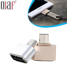 Metal Mini Micro USB OTG to USB Adapter Micro USB Male OTG to USB Female Adapter for Samsung XIomi LG Sony TCL Huawei