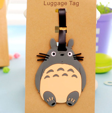 Kawaii NEW TOTORO 11.5CM Approx. Lady's Silicone Rubber Travel Luggage Tag Holder ; Luggage Label Name TAG Case(China)