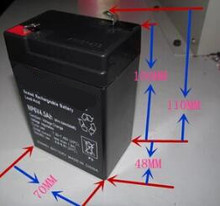 Free shipping 6V 4.5AH lead acid battery rechargeable battery Children's electric car battery(China)