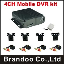1pcs 4CH Mobile Dvr for taxi,car,bus use,include 4pcs mini IR car camera(China)