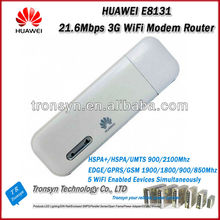 Wholesale Original 21.6Mbps HUAWEI E8131 3G USB Modem WiFi Router With Sim Card Slot Support 5 WiFi Device