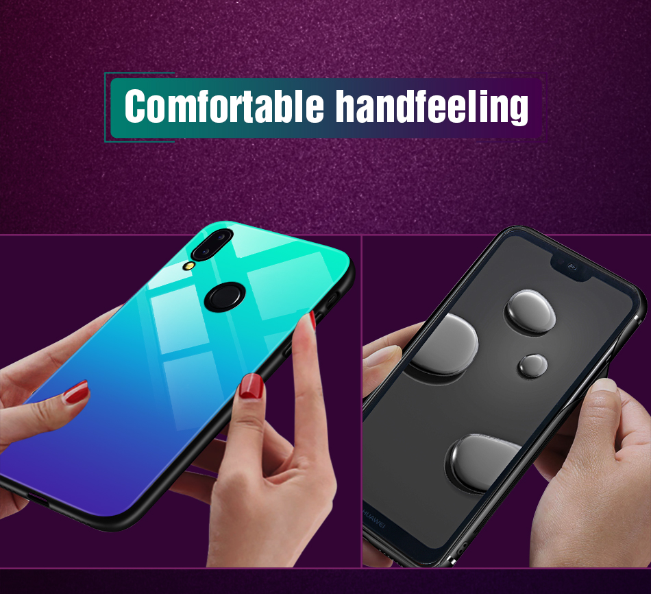 Gradient Glass Back Case For Huawei P20 Lite P Smart Plus Nova 3i Case Luxury Silicone Case For Huawei Honor 10 9 Lite 8X Coque (9)
