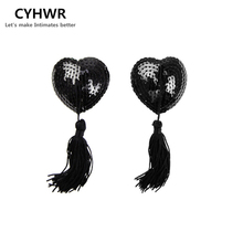 Buy CYHWR New Sexy Toys Sex Product Lingerie Women Sequin Bra Breast Nipple Tassel Pasties Stickers Cover petals