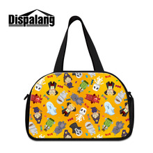 Dispalang Womens Travel Bags Cartoon Animal Print Travel Duffle Bags Large Capacity Mens Luggage Bags Trip Shoulder Handbag