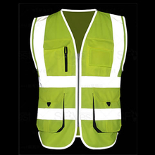SFvest Cycling Running vest hi vis yellow safety reflective vest safety jacket company  logo printing free shipping