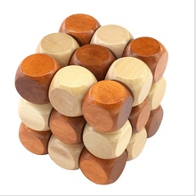 2016 Ming lock Dragon wooden cube puzzle classic children's education and learning magic toy building blocks for children