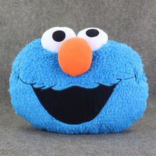 Blue Color Sesame Street Plush Doll Elmo Plush Doll Soft Pillow Cushion Toy Great Gift free shipping