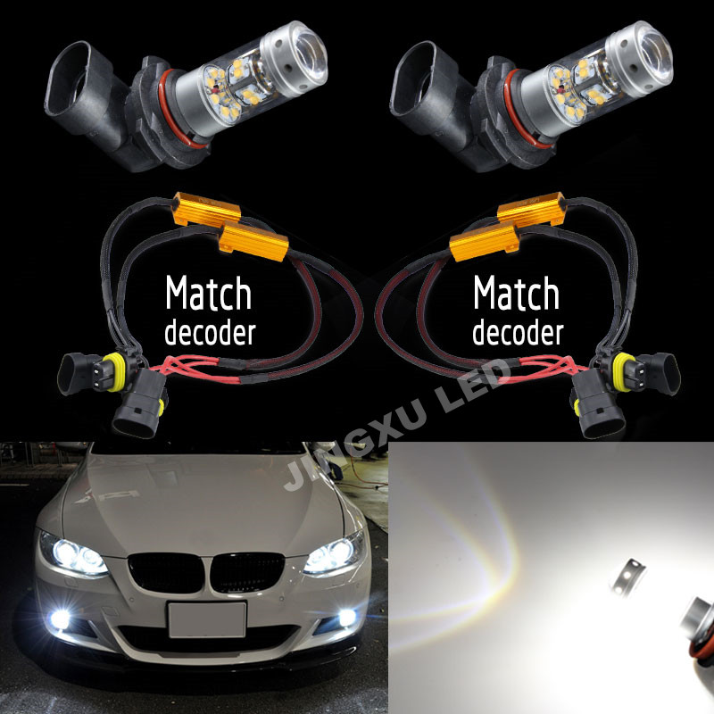 2 x 9006 HB4 No Error  Canbus White Led Bulb  140W 140LM  Daytime Running Lights Fog Lamp For BMW E60 E63 E64 E46 330ci<br><br>Aliexpress