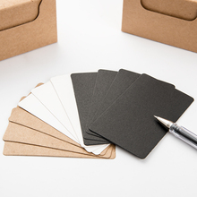 100 Pcs/box Black White Kraft Paper Memo Pad Notebook Business Paper Cards Stationery Stickers Memo Pads Word Cards
