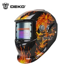 DEKOPRO Skull Solar auto darkening  MIG MMA electric welding mask/helmet/welder cap/welding lens for welding machine
