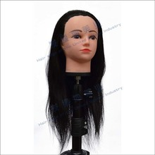 "CAMMITEVER Long Hair 20"" Mannequin Head Hair Styling Mannequins Wig Head Holder Training Head For Hairdressers Paspop Female"