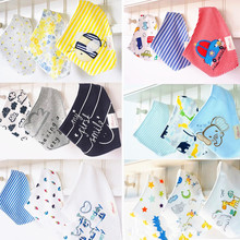 3pc/lot 100% cotton baby clothing girls baby bibs towel bandanas chiscarf ldren cravat infant towel atrk0001(China)