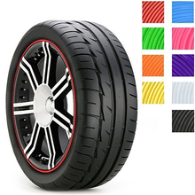 8mCar Tire  For Auto Tyre Rim Care Protector Hub Wheel Stickers Strip Guard Line Store 47