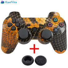 EastVita bluetooth gamepad game controller for SONY PS3 Wireless Bluetooth Joysticks for DUALSHOCK 3 SIXAXIS and USB Cable 2 cap(China)