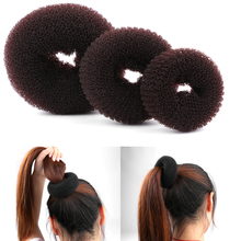 1PCS Size S/M/L New Fashion Women Bun Accessories Styling Tool Hair Accessories Lady Magic Shaper Donut Hair Ring(China)