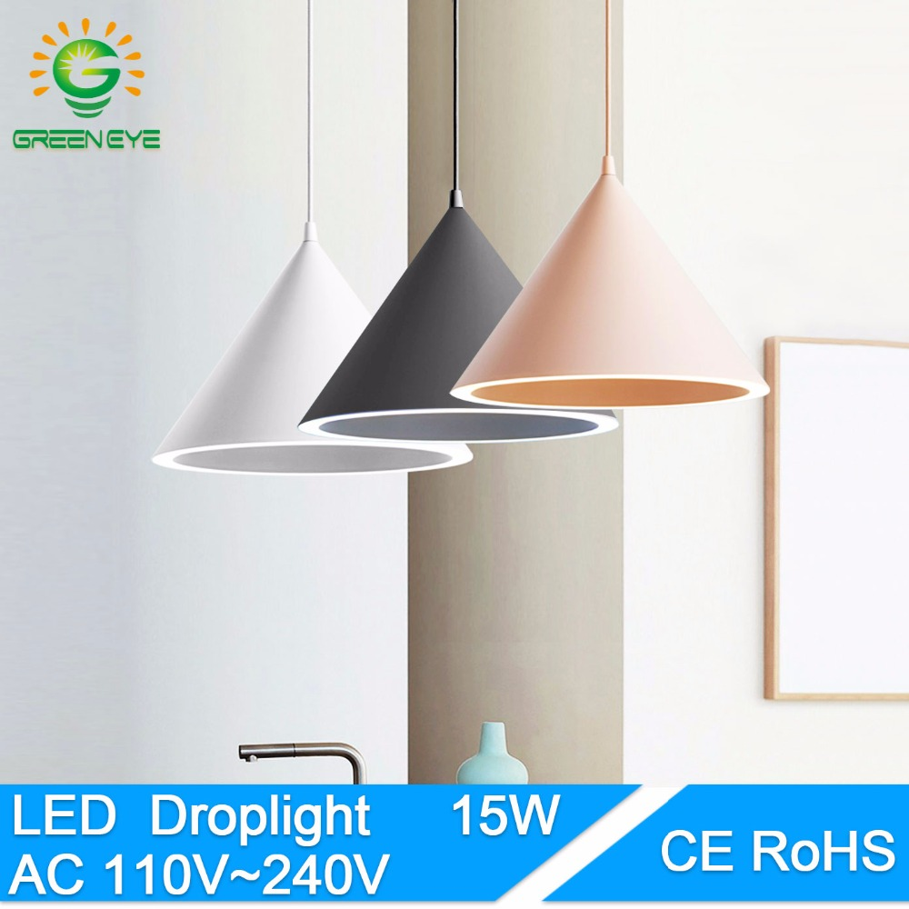 GreenEye Modern Pendant Lights including led lamp Lighting Fixture Aluminum Pendant Lamp Dining Room Lights For Home Lighting<br>