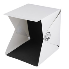 New 22.6cm x 23cm x 24cm Portable Mini Photo Studio Box Photography Backdrop built-in Light Photo Box In stock