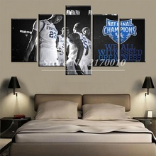 NewModern Home Artwork Poster Picture basketball Canvas Unframed Popular Team Members 5pieces Painting Bedroom Ball the UK
