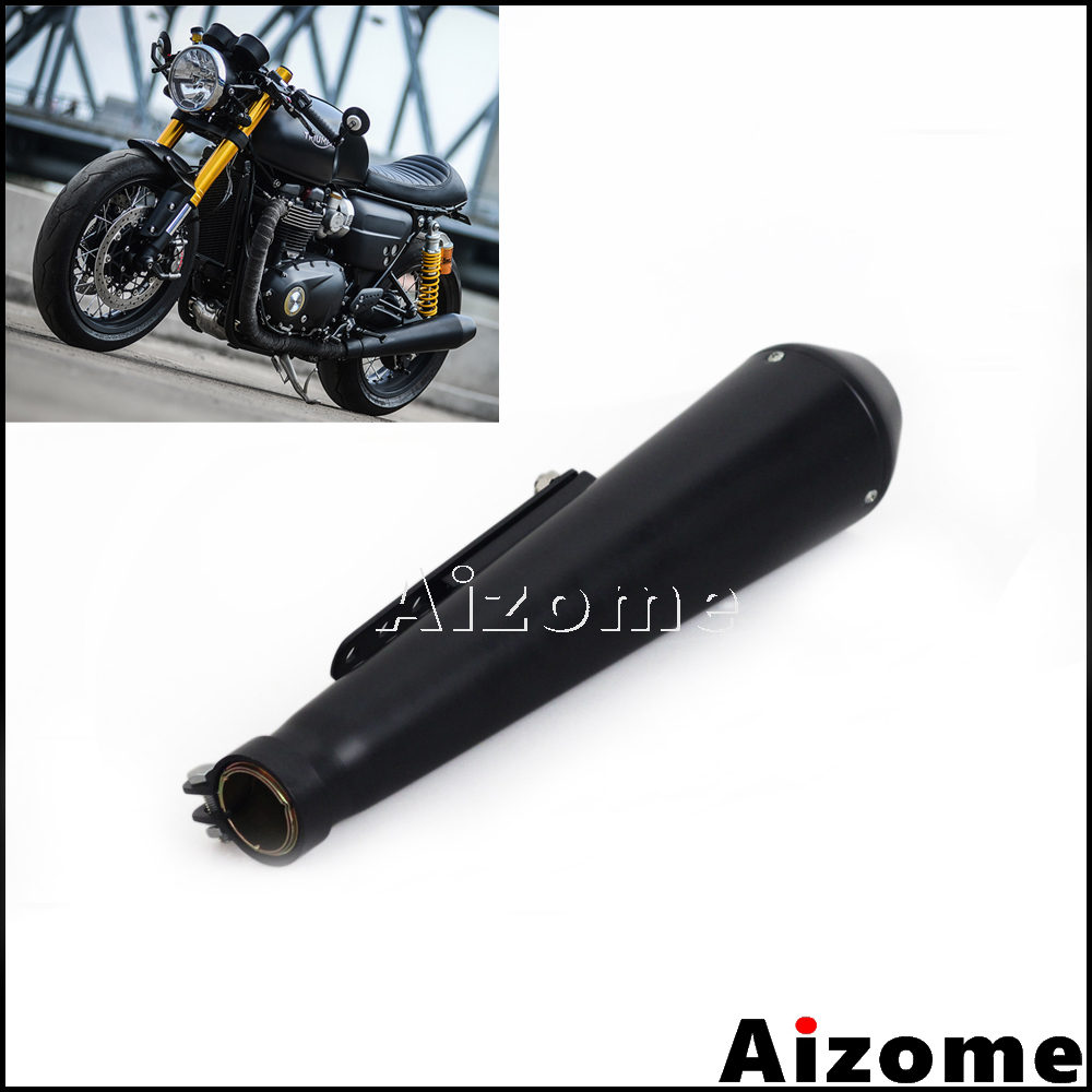 """BLACK 7/"""" HEAT SHIELD FOR 1-3//4/"""" EXHAUST PIPES HARLEY TRIUMPH BOBBER CHOPPER"""