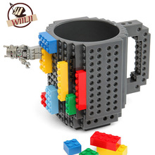 1PCS 350ml Building Blocks Mug Funny Cool Coffee Beer Travel Items Gear Stuff Supplies Fun Cups Products Gift For Children(China)