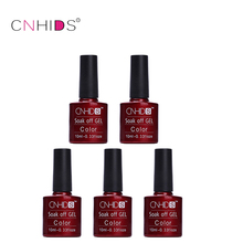CNHIDS 2017 5Pcs Fashion Pink Color Series Gel Nail Polish UV Gel Polish Long Lasting Soak Off UV Nail Gel Polish Hot Gelpolish(China)