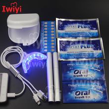 Advanced Kit 3Interface 16LED Teeth Whitening Pen Desensitize Strips Tooth Wipe Dust-Proof Box 3D White Bleach Oral Dental Care(China)