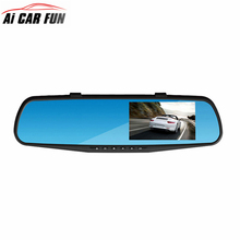 RM-LC2010 DVR Full HD 1080P 4.3 inch 6lens Rearview Mirror 3 Functions in 1 Rearview Mirror + Front Camera DVR + Rearview Camera(China)