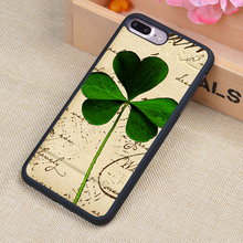 Good Luck Four Leaf Printed Soft Rubber Mobile Phone Cases Accessories For iPhone 6 6S Plus 7 7 Plus 5 5S 5C SE 4 4S Cover Shell