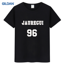 Lauren Jauregui 96 Fifth Harmony Baseball 2017 Short Sleeve Striped T-Shirts Red White Striped T Shirts Striped Tee Shirt(China)