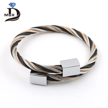 MSX 3 Style Fashion Stainless Steel Screw Nut Bracelets For Women Wristband Gold and Black Adjustable Cube Bracelets Bangles