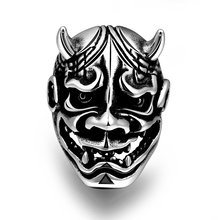 Men Ring Male Stainless Steel Ring Animal Head Cow Design Men's Ring Biker Men Jewelry